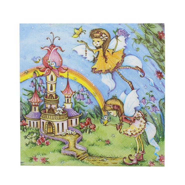 Decoupage Napkins 13 X 13 Inch- Fairy Castle , 3 Ply, 1Pc