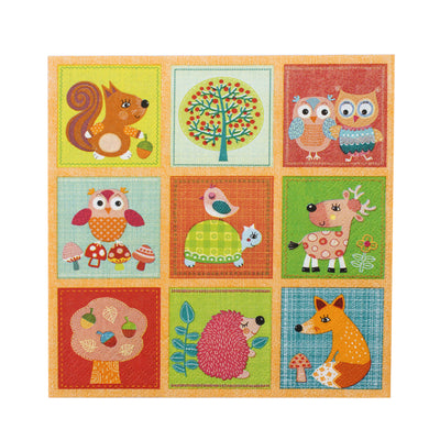 Decoupage Napkins 13 X 13 Inch- Jungle Friends , 3 Ply, 1Pc