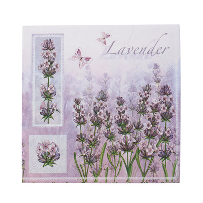 Decoupage Napkins 13 X 13 Inch- Lavender Meadow , 3 Ply, 1Pc