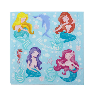 Decoupage Napkins 13 X 13 Inch- Mermaid Friends , 3 Ply, 1Pc