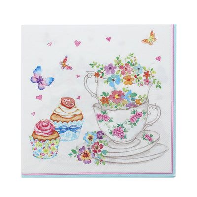 Decoupage Napkins 13 X 13 Inch- Tea Treats , 3 Ply, 1Pc