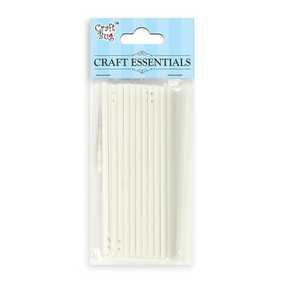 Straw 20pcs - Small, White