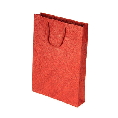 Metallic Leather Paper Bag 1pc- Red