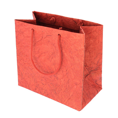 Metallic Leather Paper Bag 1pc-Red