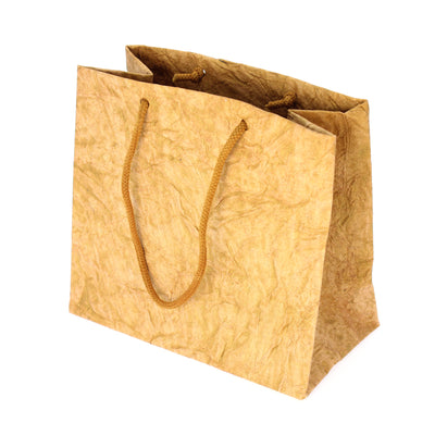 Metallic Leather Paper Bag 10pcs- Gold (Small)