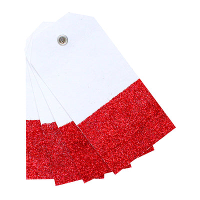 Gifting Tag - White With Red 4pcs