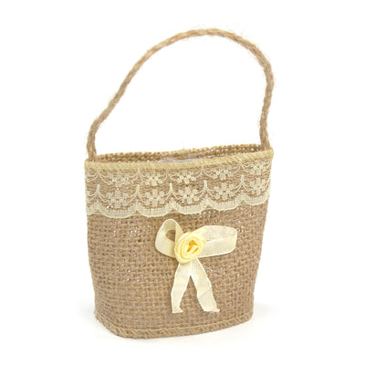 Jute Gift Bag with Bow
