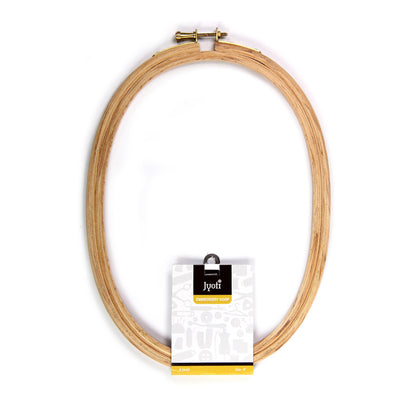 Wooden Embroidery Hoop- Oval