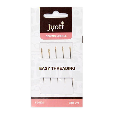 Sewing Needle- Easy Threading, Gold Eye