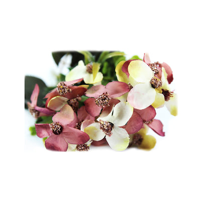 Artificial Flower - Hydrangea Petal, White and Pink