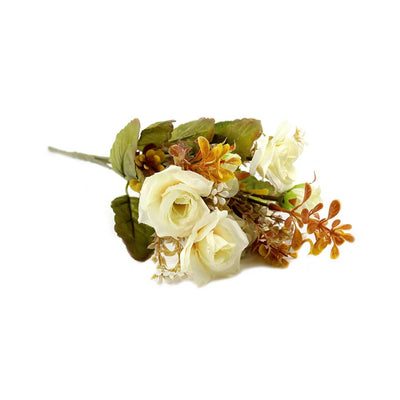 Artificial Pretty Rose - Ivory