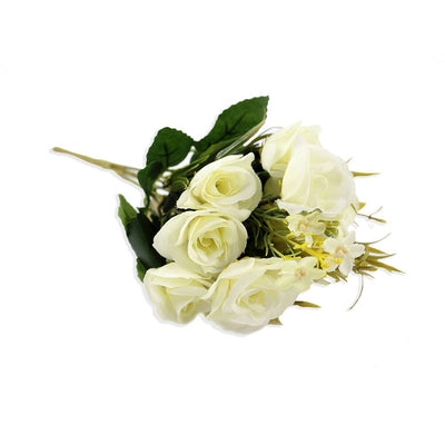 Artificial Beautiful Rose - White