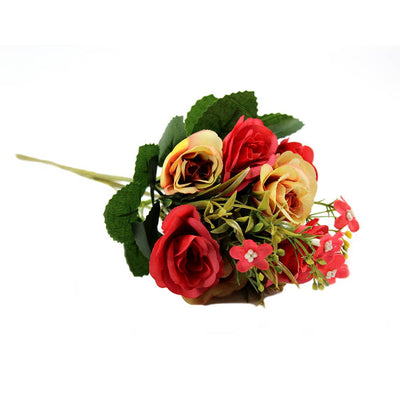 Artificial Beautiful Rose - Red and Peach