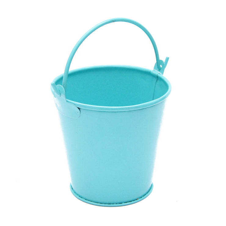 Mini Metal Bucket with Handle -Blue, 8x8cm, 1 Pc
