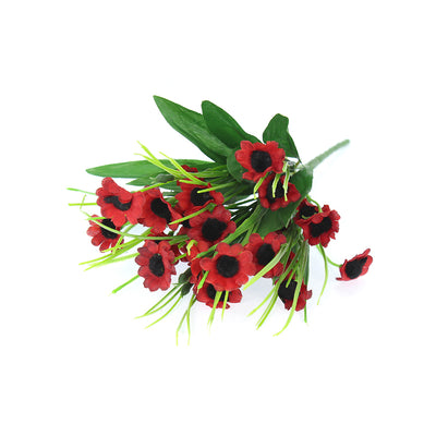 Artificial Daisy Bunch-Red