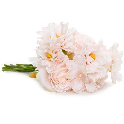 Artificial Flower- Peony Bunch, Pearl Pink, 10 inch, 1 Sprig