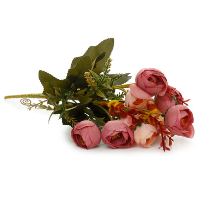 Artificial Flower- Garden Rose, Pearl Pink, 13inch, 1 Sprig