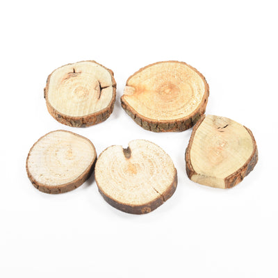 Wooden Disc - 1.5Inch (approx), 5pcs