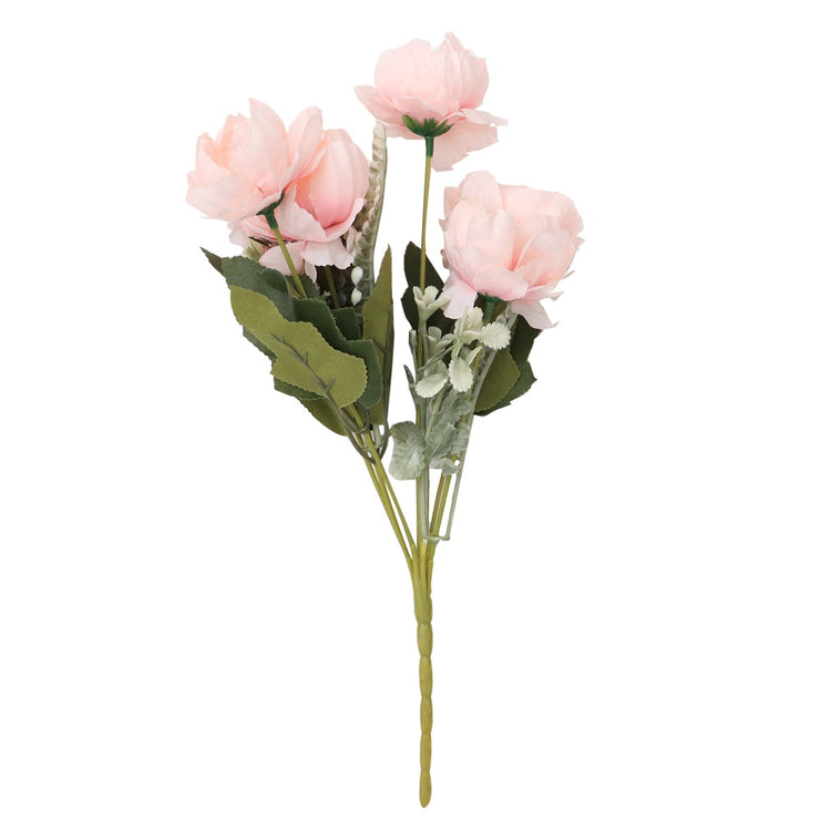 Artificial Flower - Peony Bunch, Blush Pink, 1 Sprig