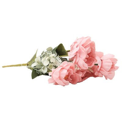 Artificial Flower - Peony Bunch, Flamingo Pink, 1 Sprig