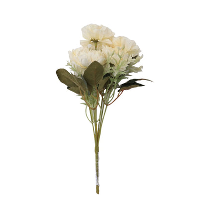 Artificial Flower - Peony Bouqute, Sugar Cookie, 1 Sprig