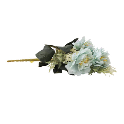 Artificial Flower - Peony Bouquet, Soft Sky, 1 Sprig
