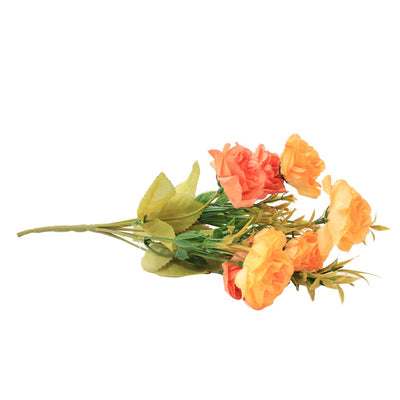 Artificial Flower - Charming Rose, Mixed Melon, 1 Sprig