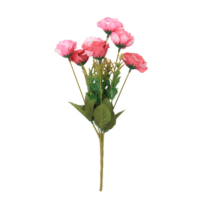 Artificial Flower - Charming Rose, Pearl Blush, 1 Sprig