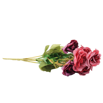 Artificial Flower - Charming Rose, Grape Twist, 1 Sprig