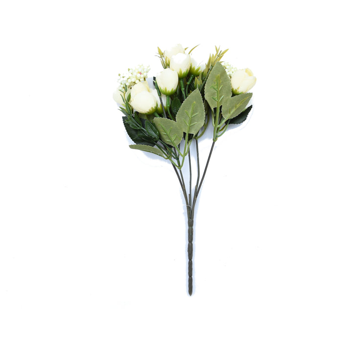 Rose Bud Bunch White -1Pc