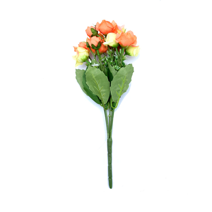 Double Rose Charm Peach With Cream -1Pc
