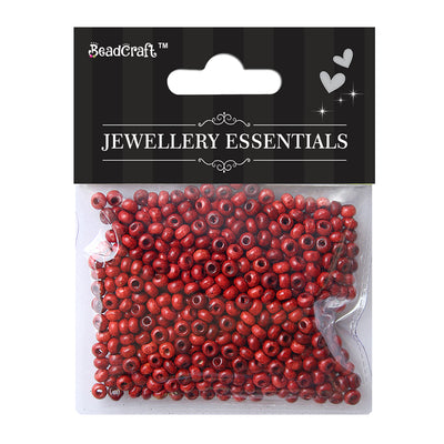Wooden Beads 4mm,12gm - Red