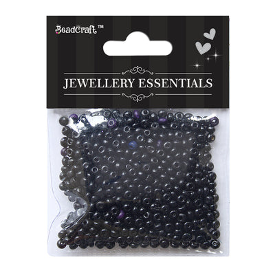Wooden Beads 4mm,12gm - Black