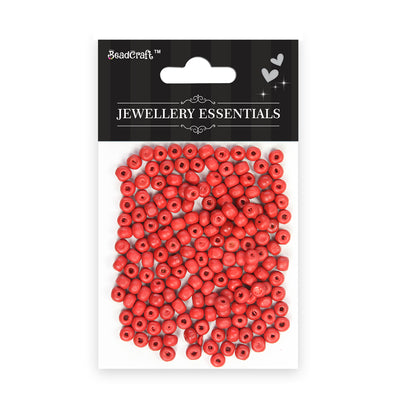 Wooden Beads 6mm,12gm - Red