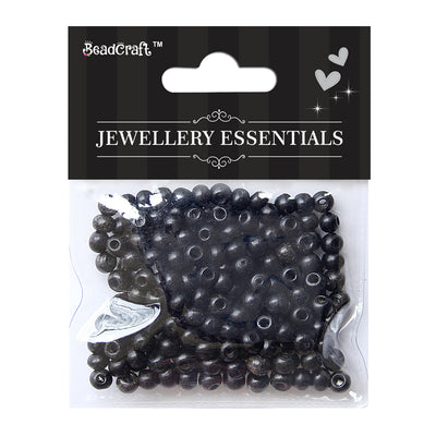 Wooden Beads 6mm,12gm - Black