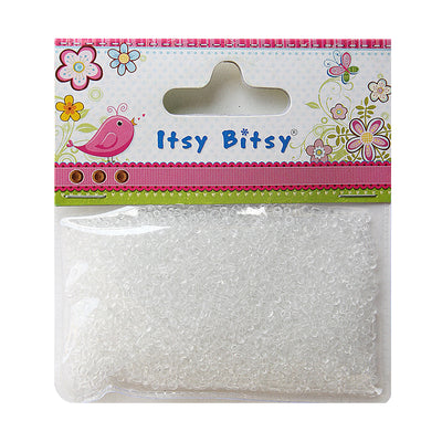 Seed Beads 30gm- Transparent White