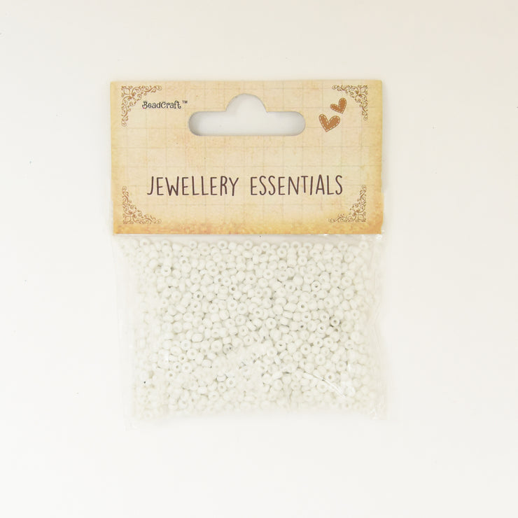 Seed Beads 30gm- Opaque, White