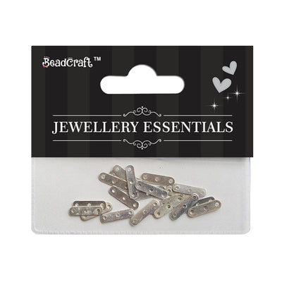 Findings - 3 Hole Bar, Silver 50pcs