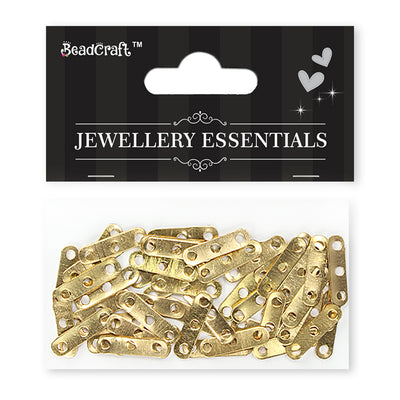 Findings - 3 Hole Bar, Gold 50pcs