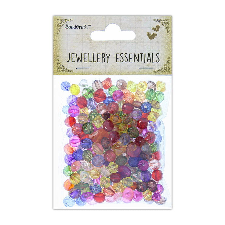 Assorted Acrylic Beads 50gm