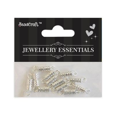 Findings 12pcs - Screw Claps , Silver