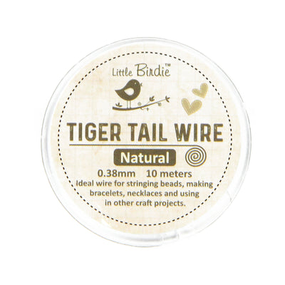 Tiger Tail Wire 0.38 mm- Natural 10mts