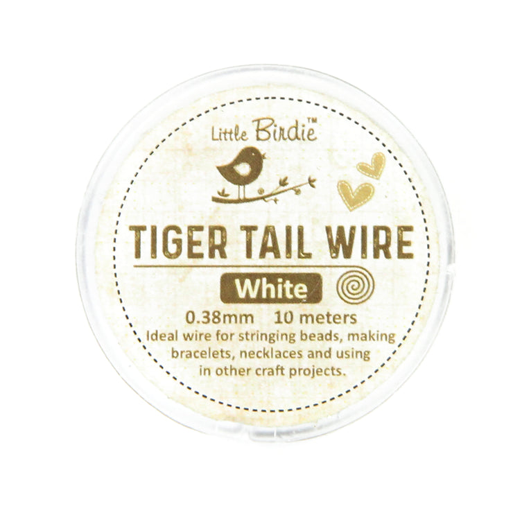 Tiger Tail Wire 0.38 mm- White 10mts