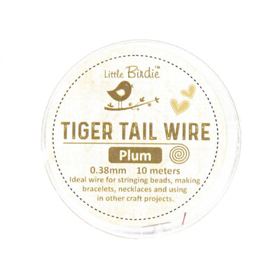 Tiger Tail Wire 0.38 mm- Plum 10mts