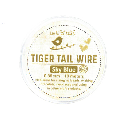 Tiger Tail Wire 0.38 mm- Sky Blue 10mts