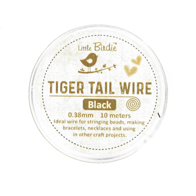 Tiger Tail Wire 0.38 mm- Black 10mts