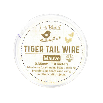 Tiger Tail Wire 0.38 mm- Mauve 10mts