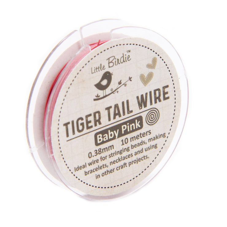 Tiger Tail Wire 0.38 mm- Baby Pink 10mts
