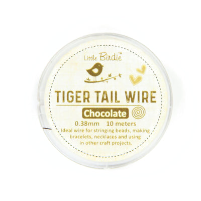 Tiger Tail Wire 0.38 mm- Chocolate 10mts