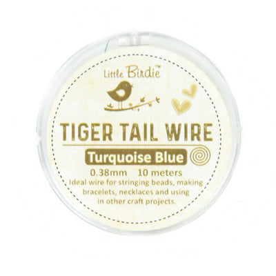 Tiger Tail Wire 0.38 mm- Turquoise 10mts